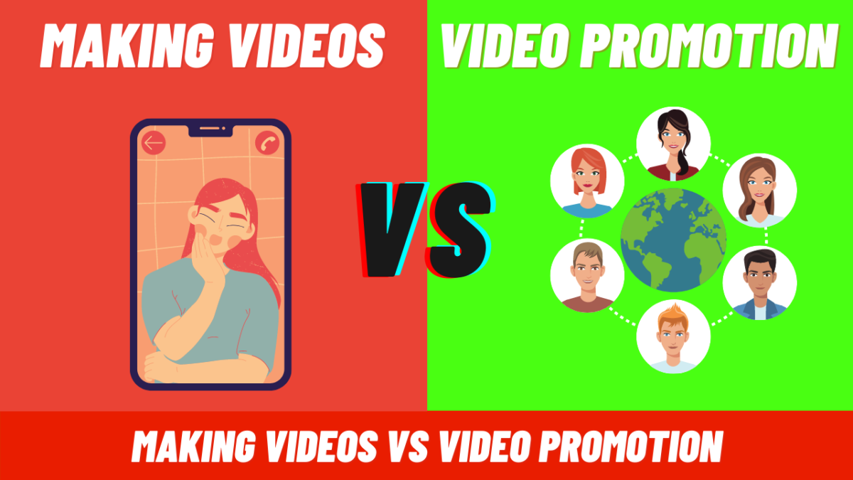 What is more important making videos on YouTube or video promotion?