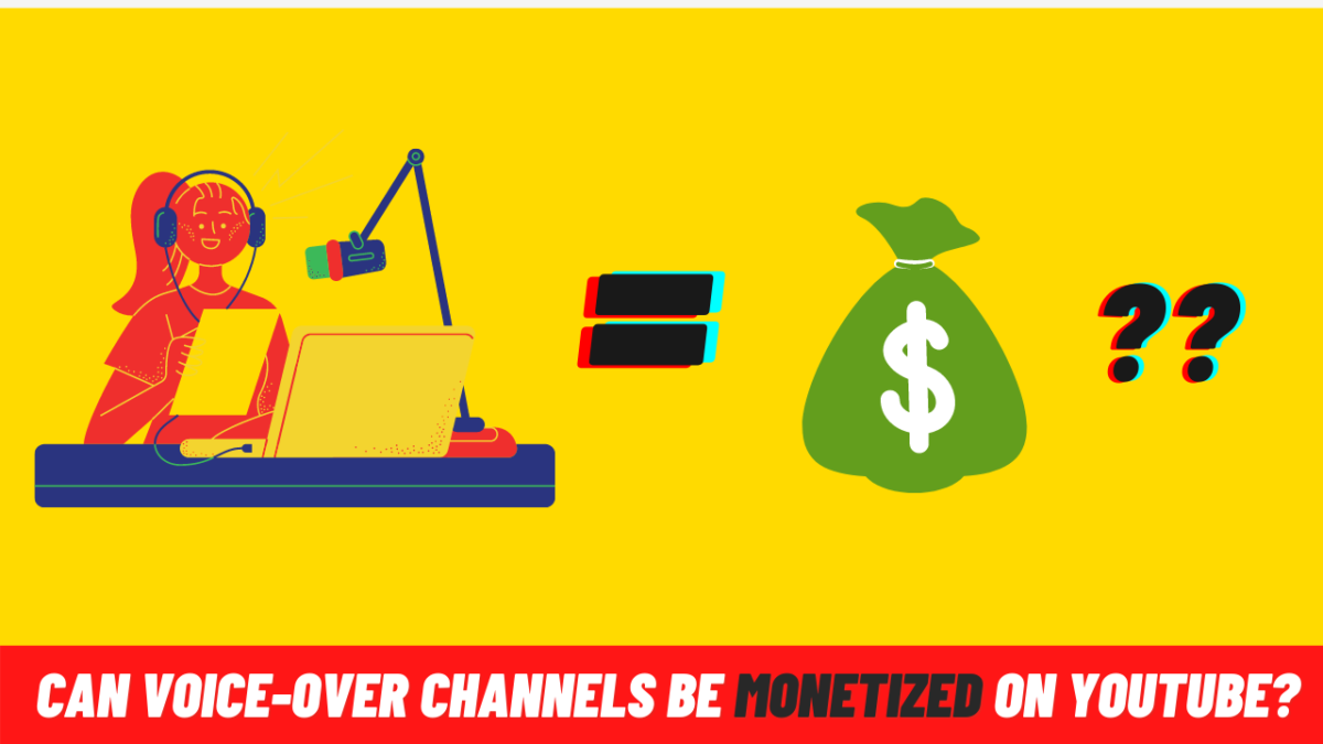 Can voice-over channels be monetized on YouTube?