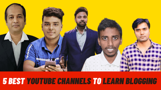 5 best youtube channels to learn blogging for free