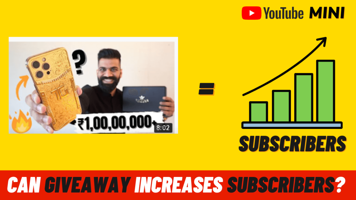 Doing Occasional Giveaways Increase YouTube Subscribers?