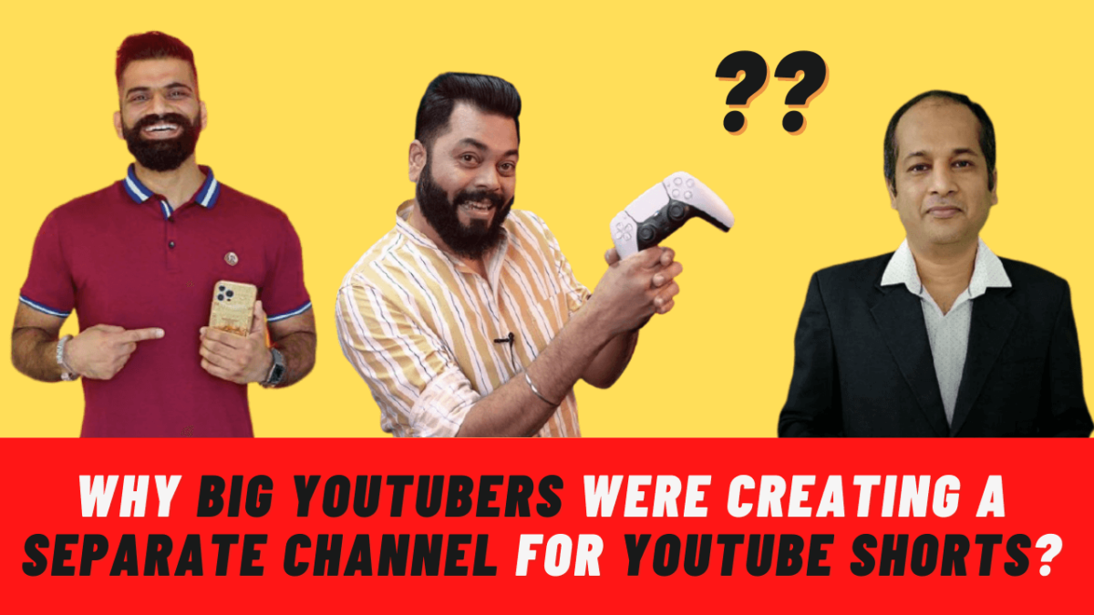 Why Big YouTubers Are Creating A Separate Shorts Channel On Youtube?