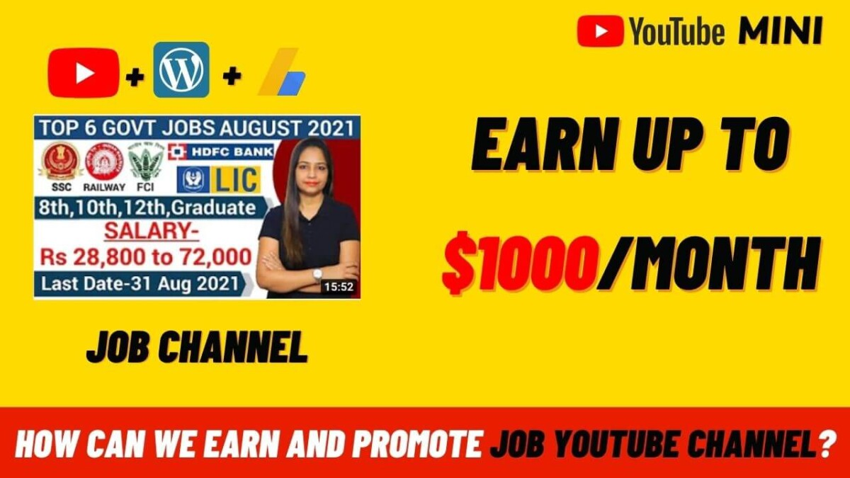 How Can We Promote Job channel On YouTube?