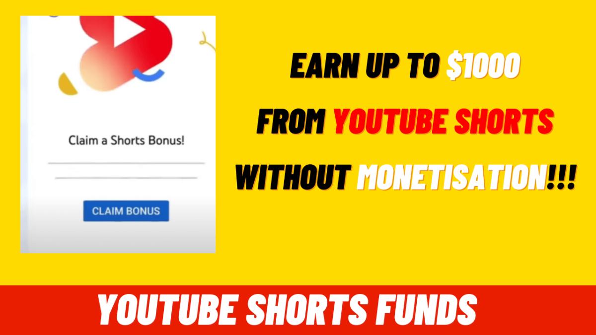 youtube shorts funds