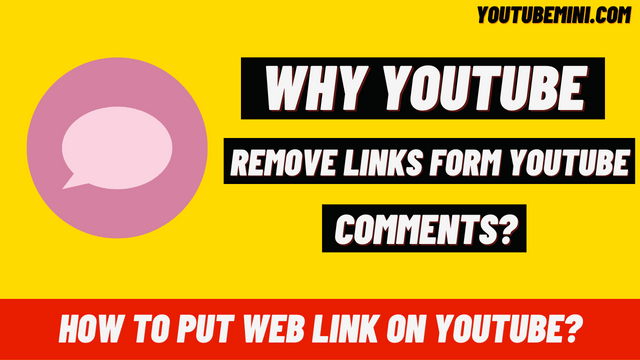Why Does YouTube Delete All Your Comments In Which You Put A Web Link?