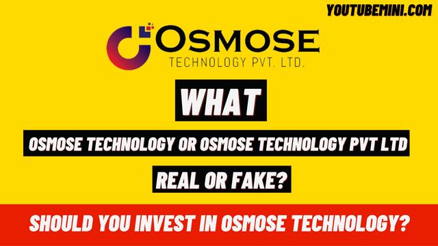 Osmose Technology or Osmose technology Pvt Ltd