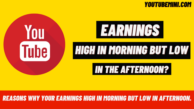 Why Is YouTube Revenue Get High In The Morning And Then Decrease In The Afternoon Around 5 pm?