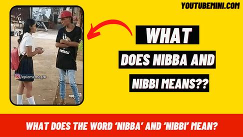 Nibba Nibbi meaning